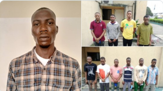 PHOTOS: Court convicts 11 internet fraudsters in Port Harcourt