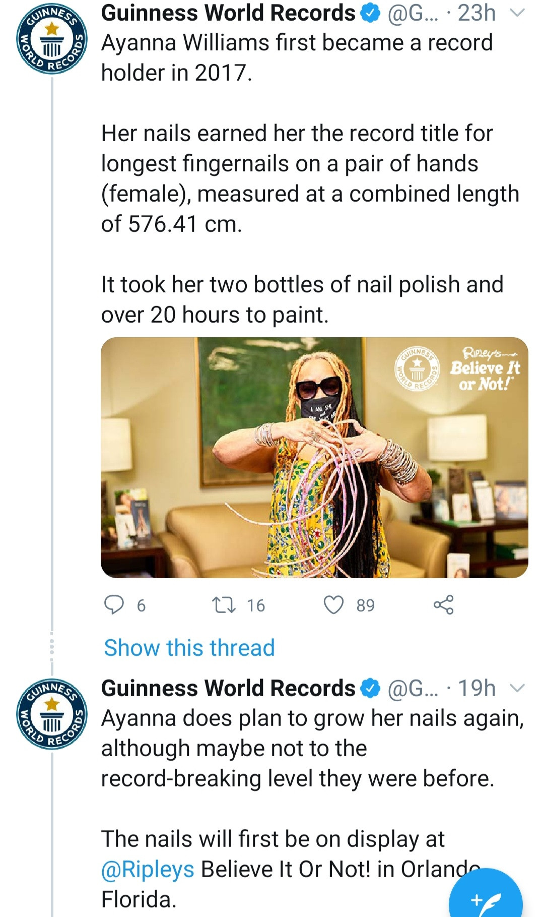 PHOTOS: Woman with Guinness World Record for longest fingernails cuts them after nearly 30 years
