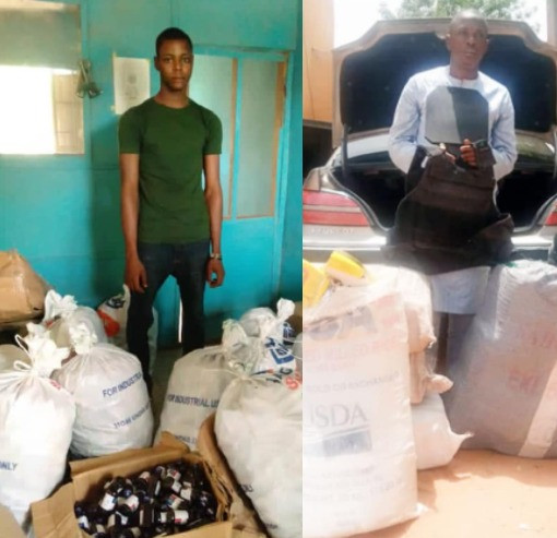 PHOTO: NDLEA officials nab trans-border trafficker with 280kg assorted drugs in Kebbi