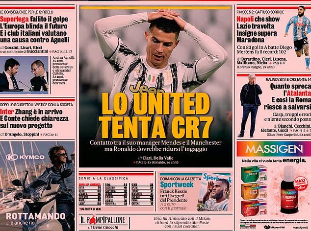 Manchester United 'make contact' with Cristiano Ronaldo's agent over £26m bargain transfer