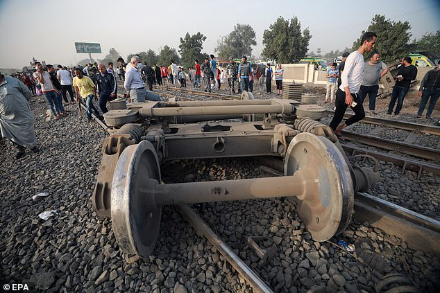 PHOTOS: At least 11 killed, 100 injured as four passenger train carriages derail in Egypt