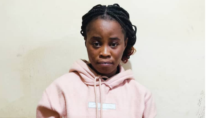 PHOTO: Woman arrested for allegedly murdering her 3-year-old stepson in Enugu
