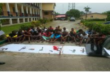 Police arrest 34 suspected criminals, recover weapons, car in Cross River