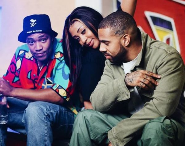 DJ Speedsta hangs out with Nadia Nakai and her American boyfriend, Vic