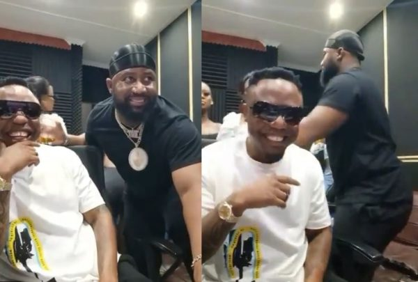 DJ Tira and Cassper Nyovest cooking in the studio together (Video)