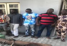 Police reject N500,000 bribe from suspects arrested with stolen construction materials in Lagos