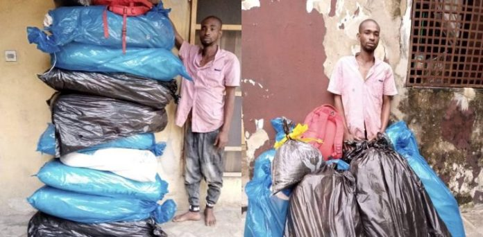Notorious Abia drug supplier Apolos busted with 100kg of cocaine, cannabis