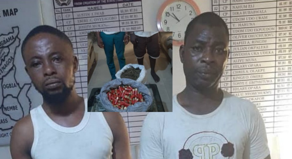 Police arrest two in possession of 125 live ammunition in Bayelsa