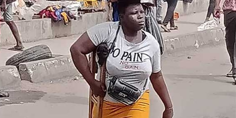 Why 26-year-old single mother amputee hawk in Lagos traffic