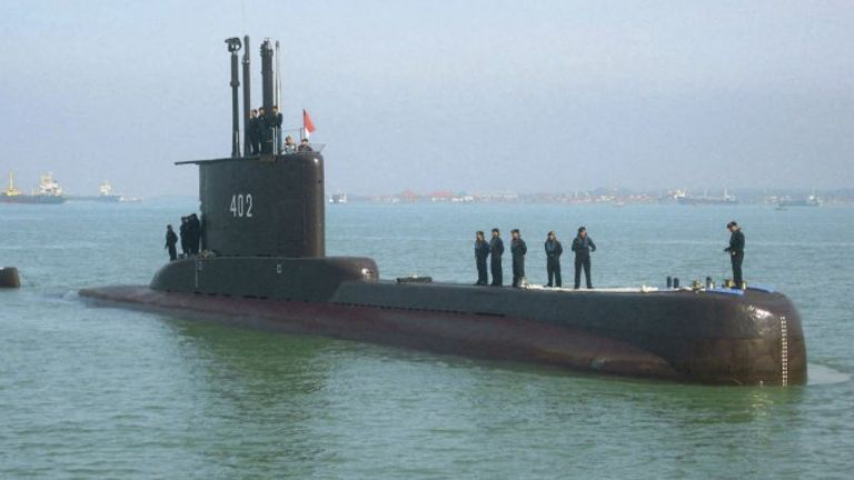 Indonesian Navy submarine with 53 sailors on board goes missing off coast of Bali