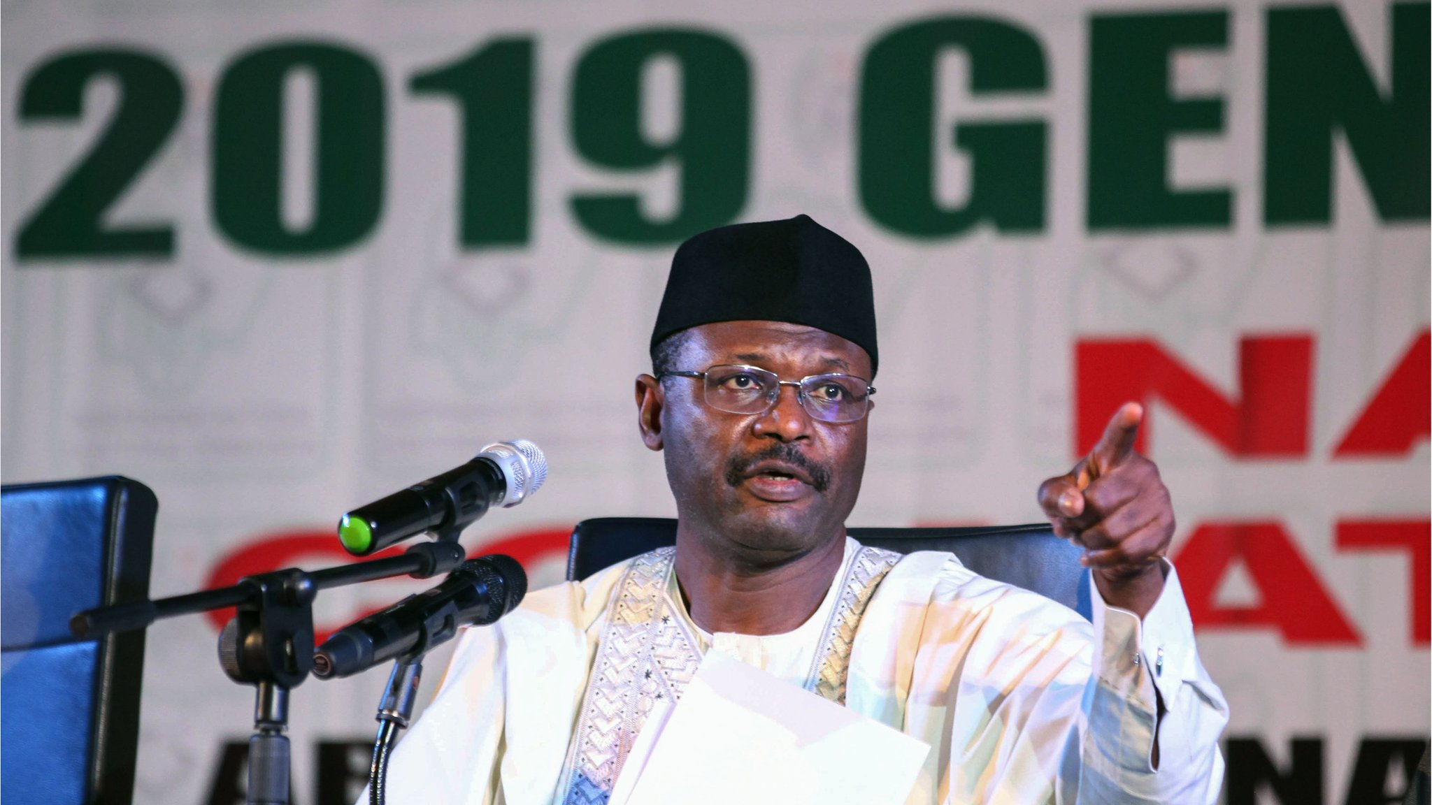 INEC boss, Mahmood Yakubu says 41 offices destroyed in 14 states since 2019