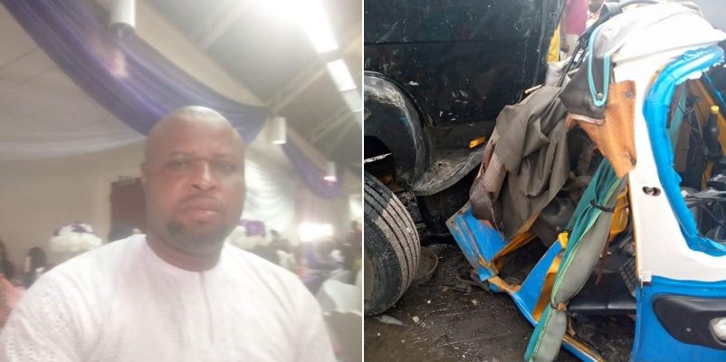 PHOTOS: School teacher killed as truck rams into tricycle in Delta