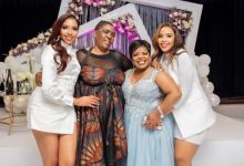 Inside Blue and Brown Mbombo's mother's 55th birthday celebration (Video)