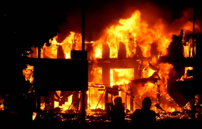 Fire guts another INEC office in Enugu