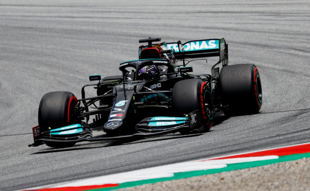 Lewis Hamilton in action at the Styrian GP