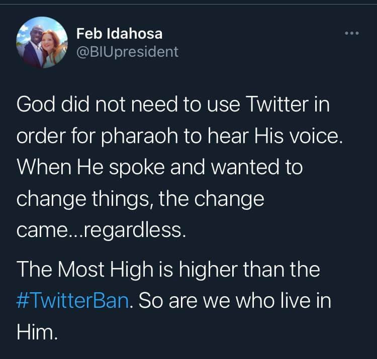 Why God doesn't need Twitter for Pharaoh to hear his voice – Pastor Feb Idahosa reacts to ban