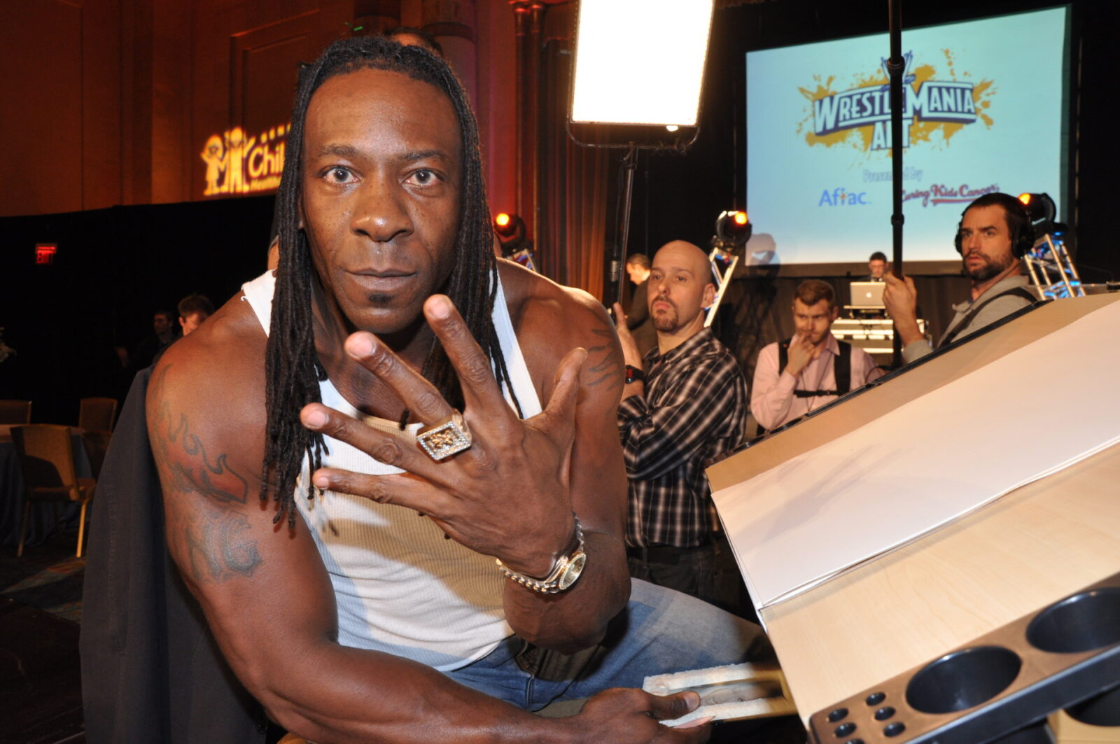 Booker T at a WWE Event