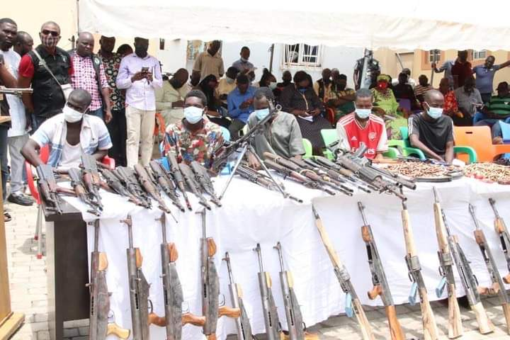 Police arrest 84 notorious kidnappers, bandits suspects, recover 45 firearms and ammunition