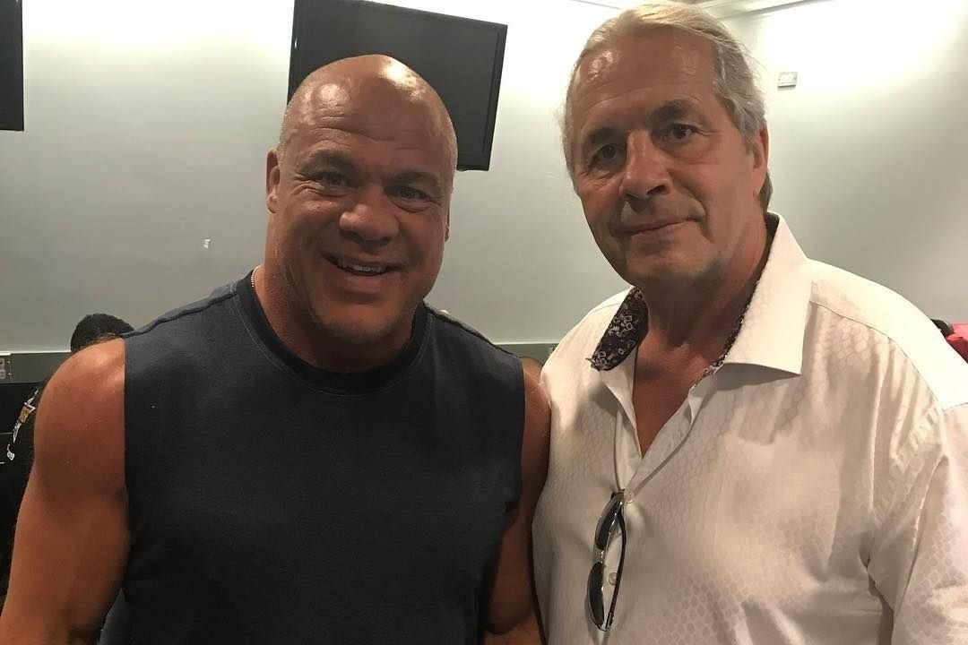 """""""No Gimmicks Just 60 Minutes of Wrestling"""" – Kurt Angle Reveals the Stipulation He Wanted for a Dream Match With Bret Hart"""