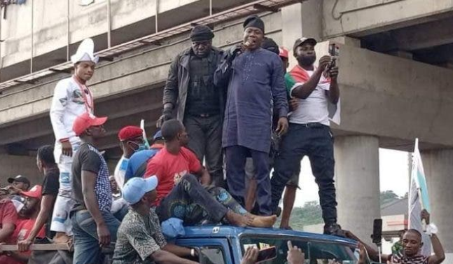 Igboho in Ekiti for Yoruba nation rally, says 2023 election won't hold in South West