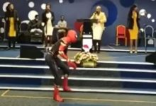 Spiderman goes to church (Video)