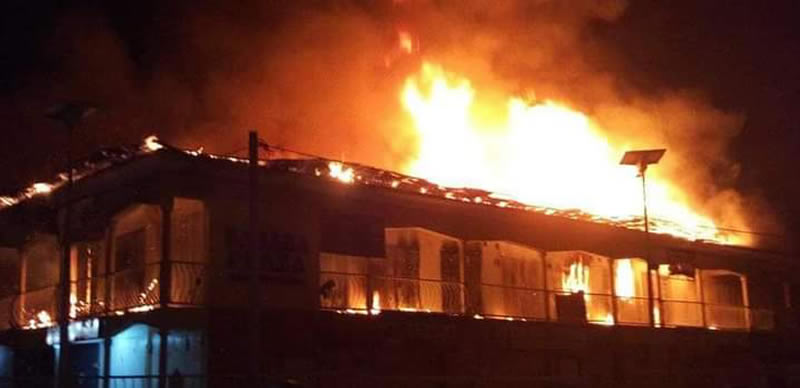 JUST IN: Fire guts Ebeano supermarket in Abuja