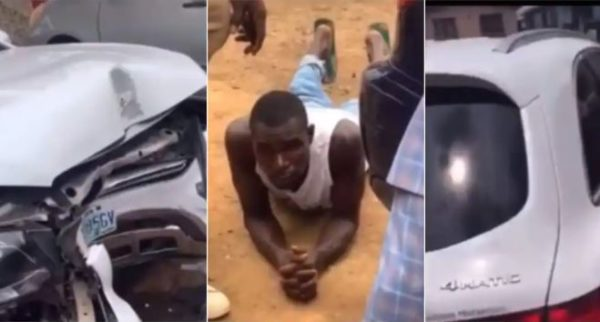 Car wash man in trouble after crashing client's Mercedes Benz (Video)