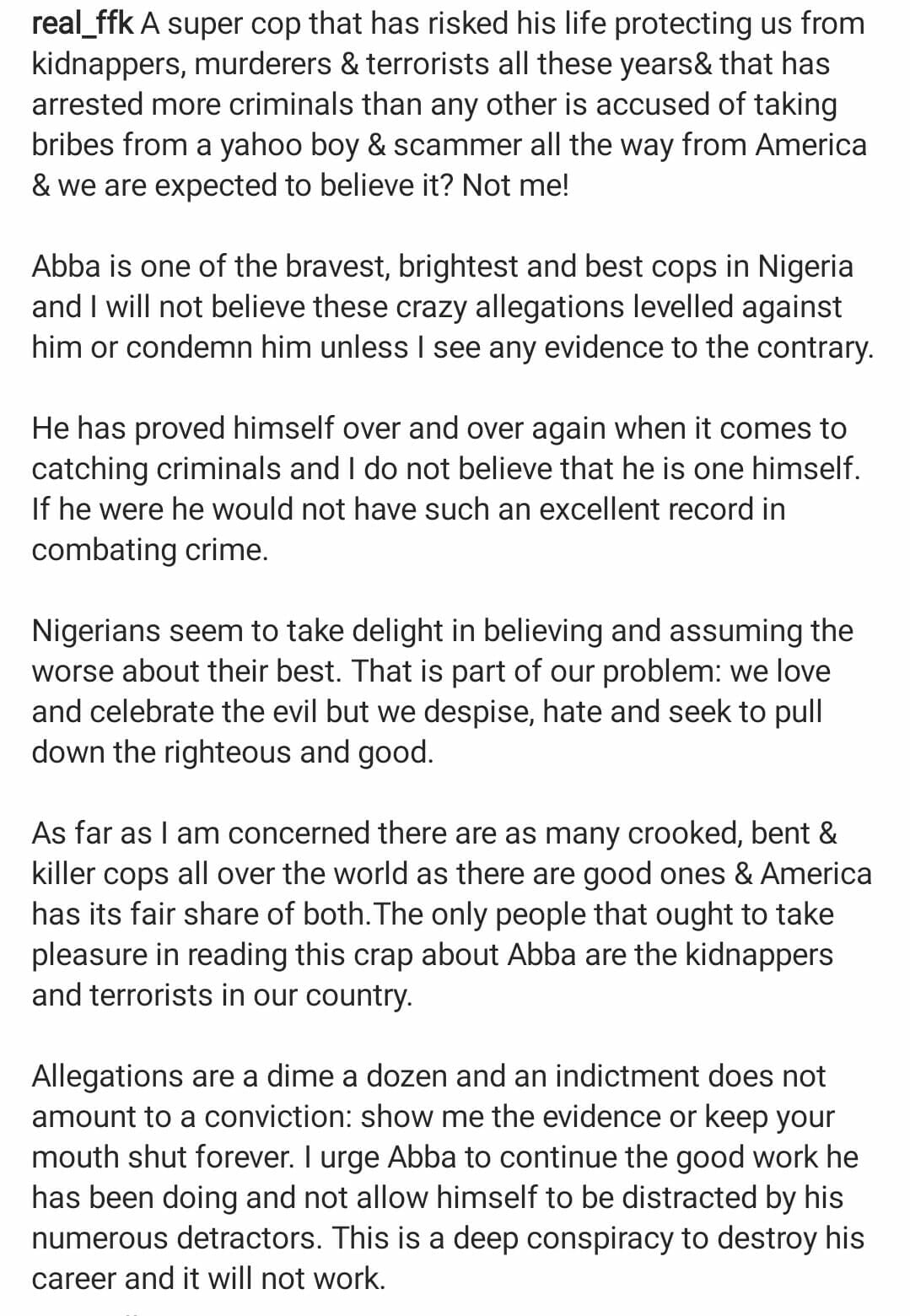 Fani-Kayode defends Abba Kyari after his indictment in the Hushpuppi fraud case