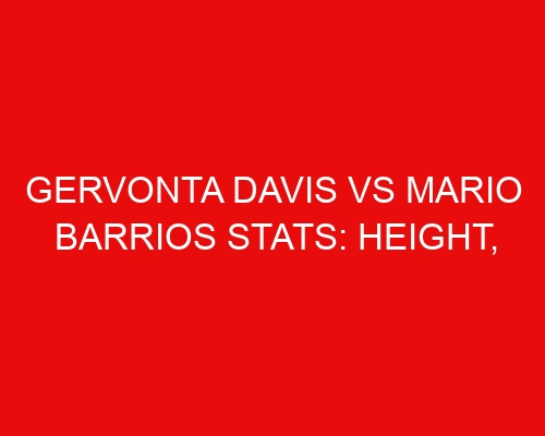 Gervonta Davis vs Mario Barrios Stats: Height, Weight, Reach, Age, Knockouts, Net Worth, and More