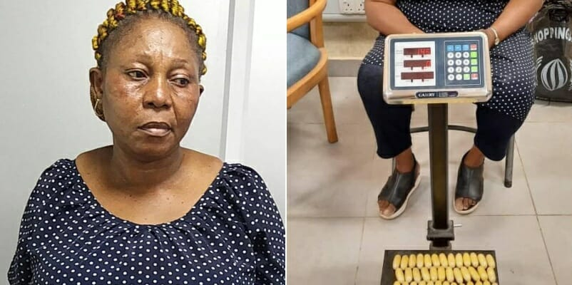 PHOTOS: NDLEA nabs Italy-bound woman with 100 wraps of heroin at Lagos airport