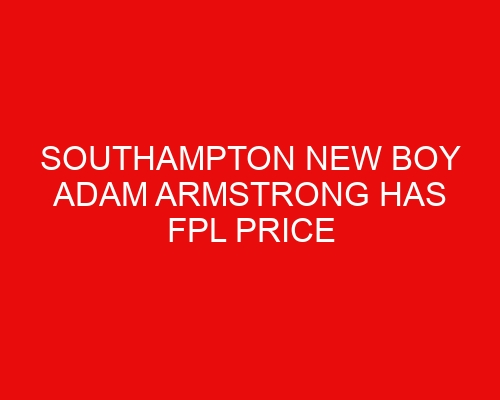 Southampton new boy Adam Armstrong has FPL price revealed