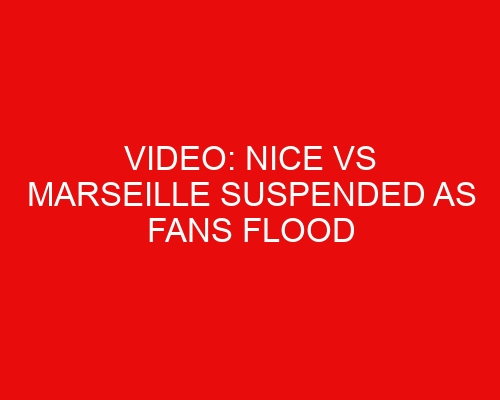Video: Nice vs Marseille suspended as fans flood pitch after Dimitri Payet launches bottle into crowd/Marseille staff member spotted dropping fan