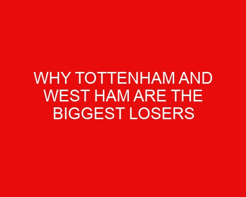 Why Tottenham and West Ham are the biggest losers from the Carabao Cup 3rd Round draw.