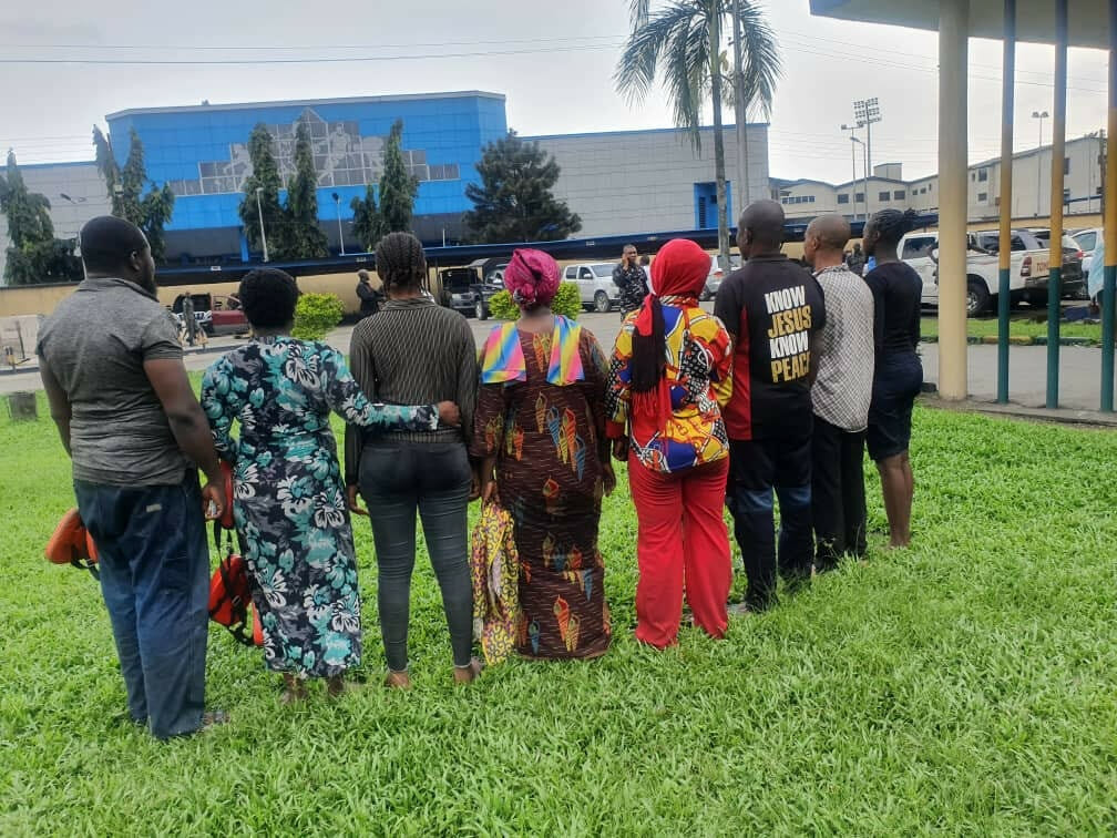 PHOTOS: Police parade suspected sea pirate, rescue 8 boat passengers in Rivers