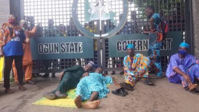 PHOTOS: Ogun pensioners protest 'non-payment of N68bn gratuity'
