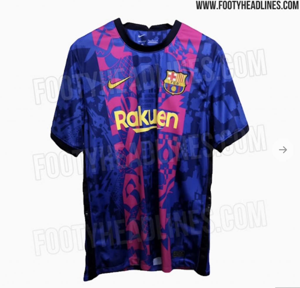 Barcelona home kit for 2021-22 Champions League campaign leaked online